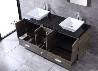 60 Inch Bathroom Vanity Double Sinks