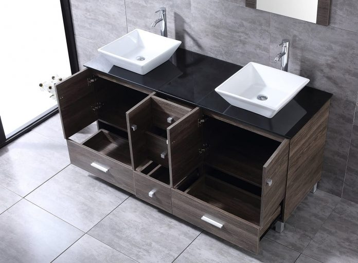 60 Inch Bathroom Vanity Double Sinks