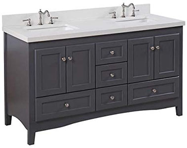 Abbey 60-inch Double Bathroom Vanity Sink