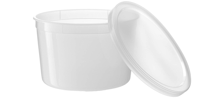 Basix Freezable Clear Food Storage Deli Containers