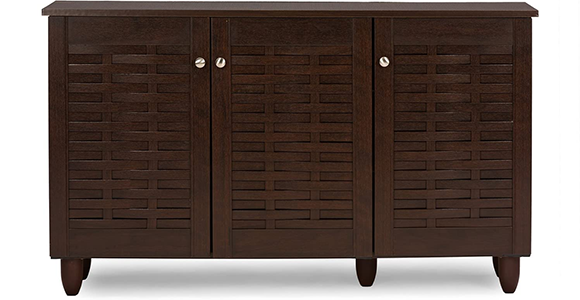 Baxton Studio Wholesale Interiors Winda Modern and Contemporary Shoes Storage Cabinet