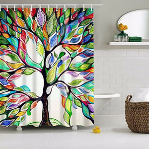 Beddinginn Colorful Shower Curtain 3D