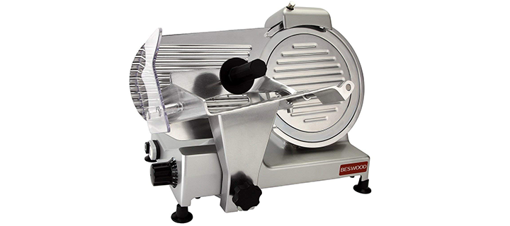 Beswood Premium Chromium-plated Carbon Steel Blade Electric Food Slicer