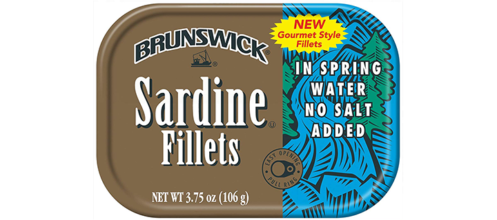 Brunswick Sardine Fillets in Spring Water