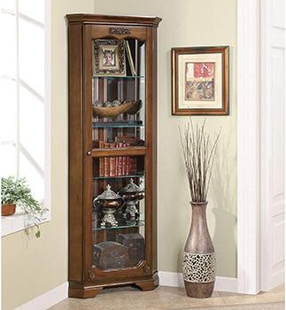 Coaster Home Furnishings 5-shelf Corner Curio Cabinet