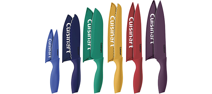Cuisinart 12 Piece Color Knife Set with Blade Guards