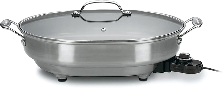 Cuisinart CSK-150 1500-Watt Nonstick Oval Electric Skillet