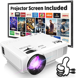 DR J Professional 1080p Supported Mini Projector