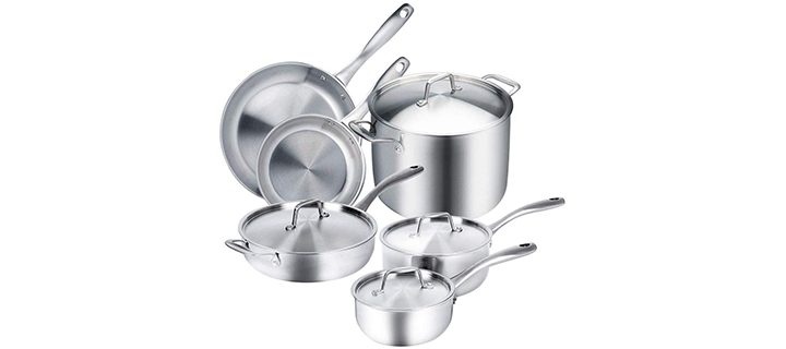 Duxtop Whole-Clad Tri-Ply Induction Ready Premium Cookware