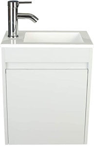 Eclife 16 Grey, Wall Mounted Vanity With Sink