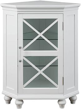 Elegant Home Fashions Blue Ridge Corner Floor Cabinet