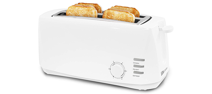 Elite Cuisine ECT-4829 Long Slot Cool Touch Toaster