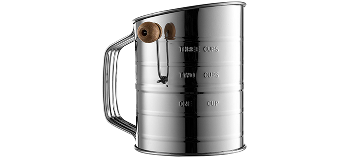 Epica Bellemain Stainless Steel 3-Cup Flour Sifter