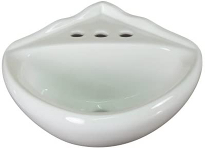 Fine Fixtures 1425 Ceramic Corner Wall Mount Bathroom Sink