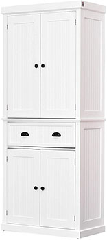HOMCOM Freestanding Kitchen Pantry Cabinet