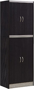 Hodedah Chocolate Kitchen Cabinet