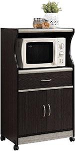 Hodedah Microwave Cart Stand 2
