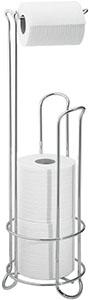 InterDesign Classico Metal Toilet Tissue Roll Reserve