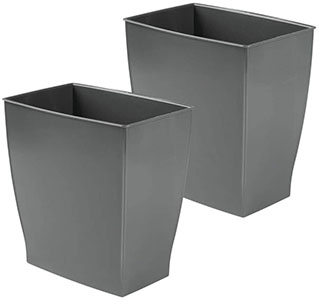 InterDesign Spa Rectangular Trash Can