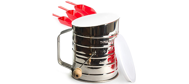 KiTheea Flour Sifter Stainless Steel 3-Cup