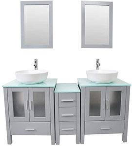 Kingran 60 Double Vanity Sink