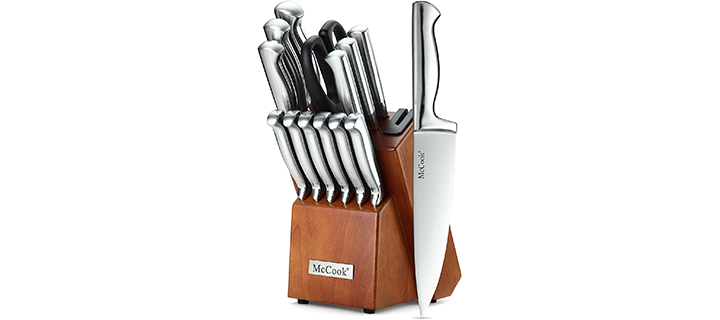 McCook 14 Pieces German High Carbon Stainless Steel Knife Set