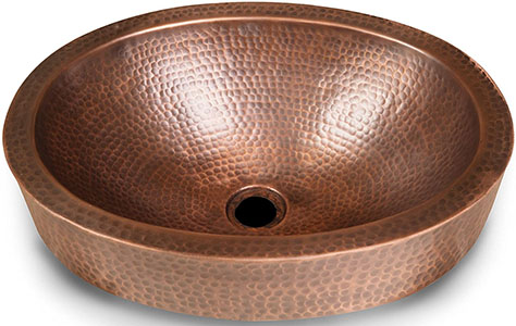 Monarch Pure Copper Hand Hammered Skirted Sink