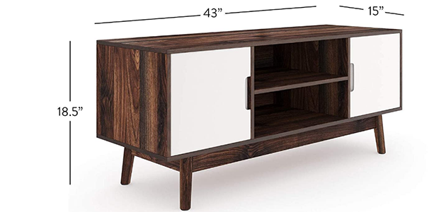 Nathan James 74401 Wesley Scandinavian TV Stand