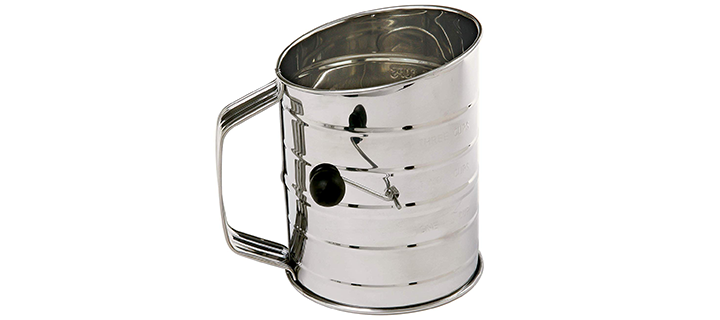 Norpro 3-Cup Stainless Steel Rotary Hand Crank Flour Sifter