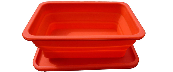 Oven, Freezer & Microwave Safe Silicone Collapsible Lunch Box