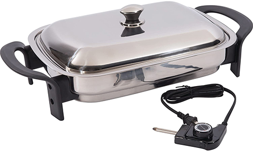 Precise Heat KTES4 Electric Skillet