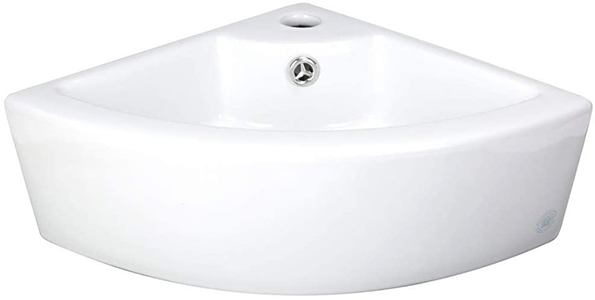 Renovator's Supply Small Corner Vessel Bathroom Sink