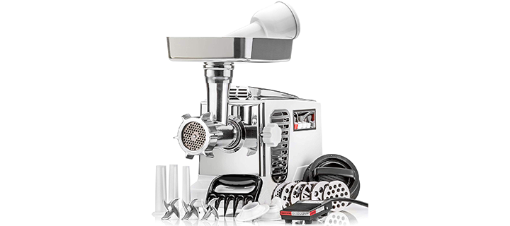 "STX Turboforce II ""Platinum"" Heavy-Duty Electric Meat Grinder"