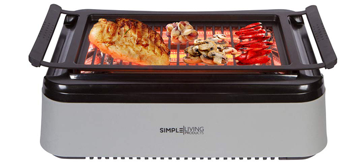 Simple Living Products Advanced Indoor Smokeless BBQ Grill