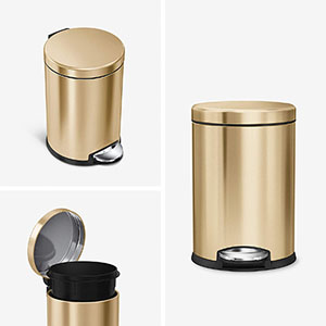 Simplehuman 45 Litre Round Step Trash Can