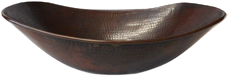 SimplyCopper 17 Oval Copper Sleigh Vessel