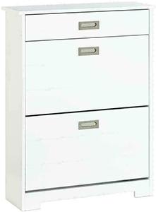 Baxton Studio Margaret Modern & Contemporary Wood Shoe Cabinet