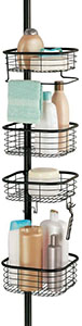 mDesign Metal Tension Pole Shower Caddy