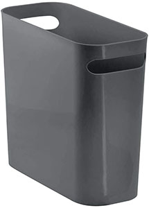 mDesign Slim Plastic Rectangular Small Trash Can