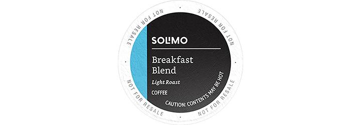 Amazon Brand Solimo Light Roast Coffee Pods