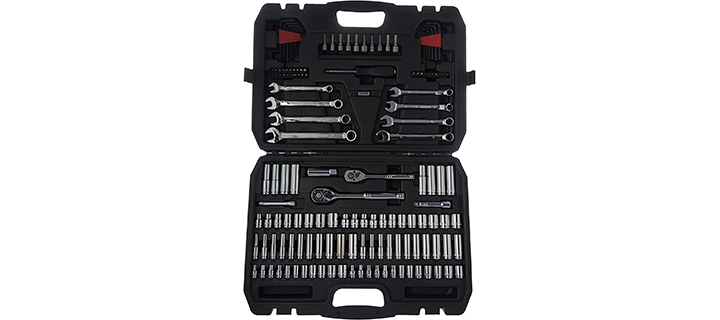 AmazonBasics Mechanic Socket Tool Kit Set with Case