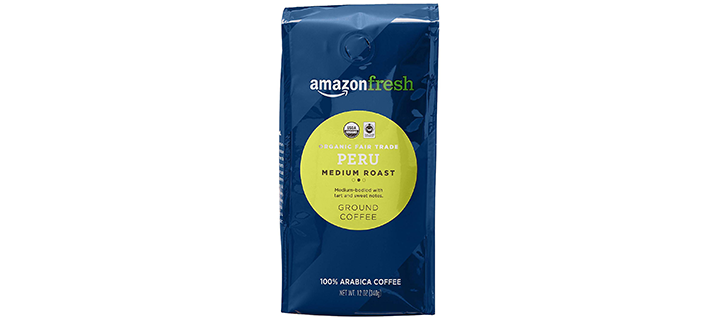 AmazonFresh Organic Fair Trade Peru Ground Coffee