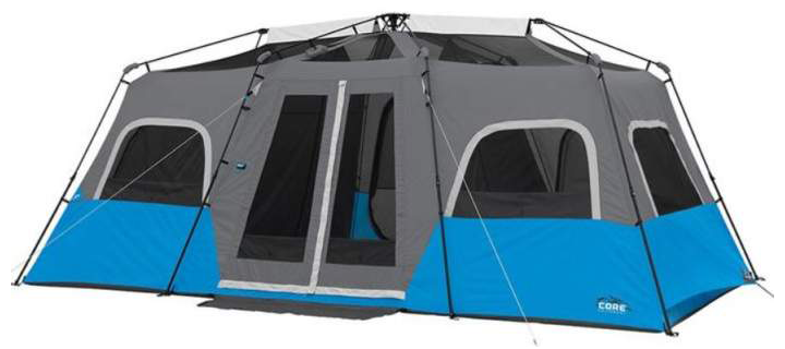 CORE Lighted 12 Person Cabin Tent
