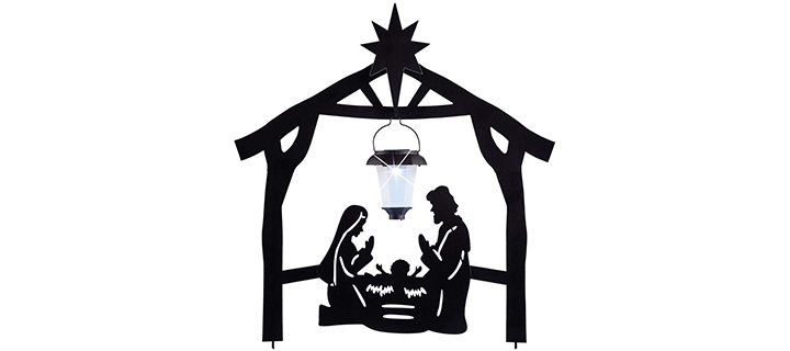 CT Discount Store Solar Stake Christmas Season Decoration Nativity Set