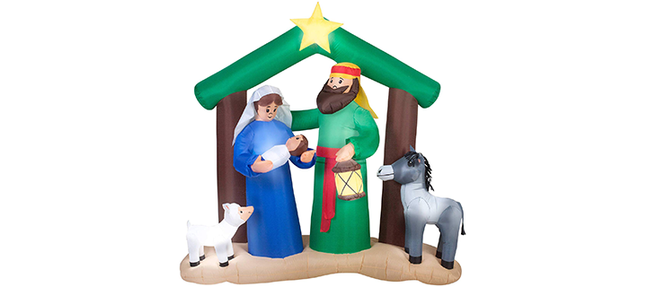 Christmas Inflatable Holy Family Nativity Scene