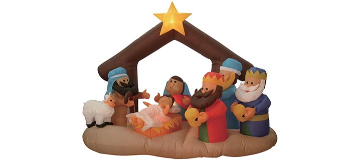 Christmas Inflatable Nativity Scene with Three Kings