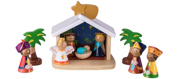 Clever Creations Children's 10-Piece Nativity Scene