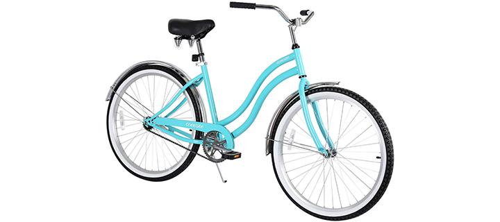 Coewske 26″ Single Speed Men Women's Beach Cruiser Bicycle