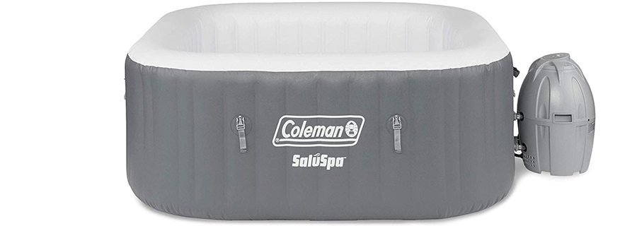 Coleman SaluSpa Portable Square Bubble Inflatable Outdoor Hot Tub