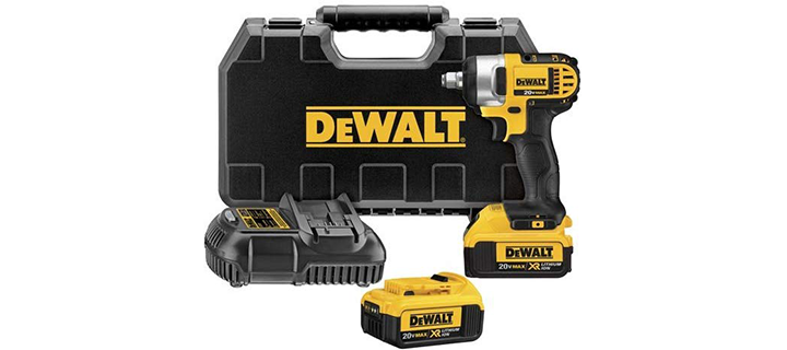 DEWALT DCF880HM2 20-volt MAX Lithium-Ion 1 2-Inch Impact Wrench Kit